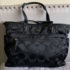 Coach signature multipurpose diaper bag.